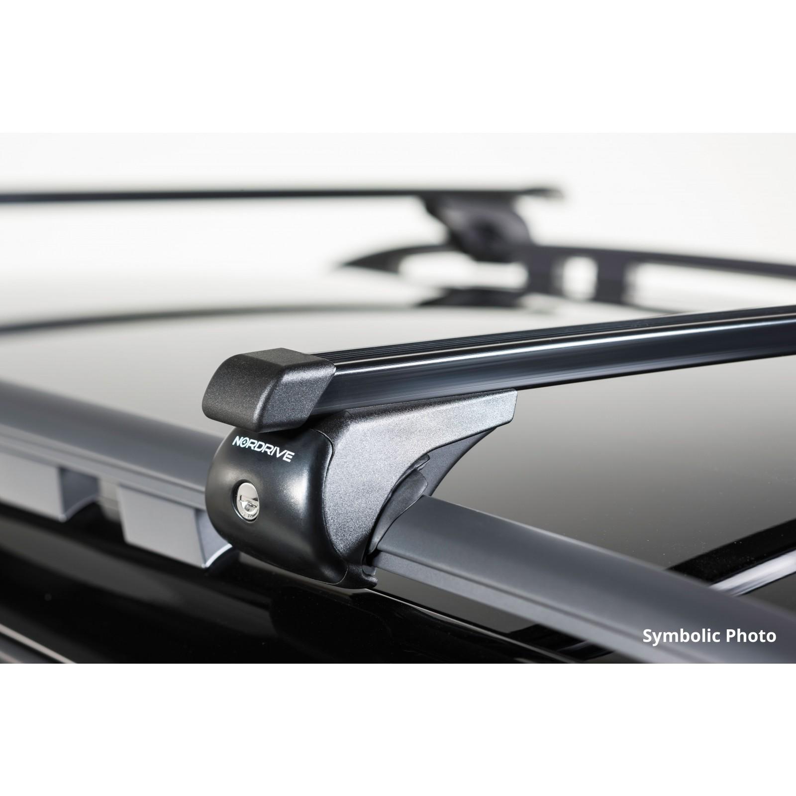 barre portatutto in acciaio per dacia logan mcv stepway. Black Bedroom Furniture Sets. Home Design Ideas