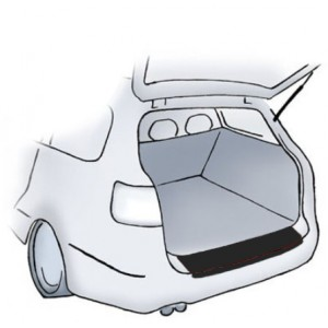 Adesivo protettivo nero per paraurti Honda Jazz
